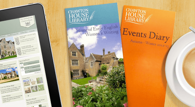 Chawton House Library leaflet design