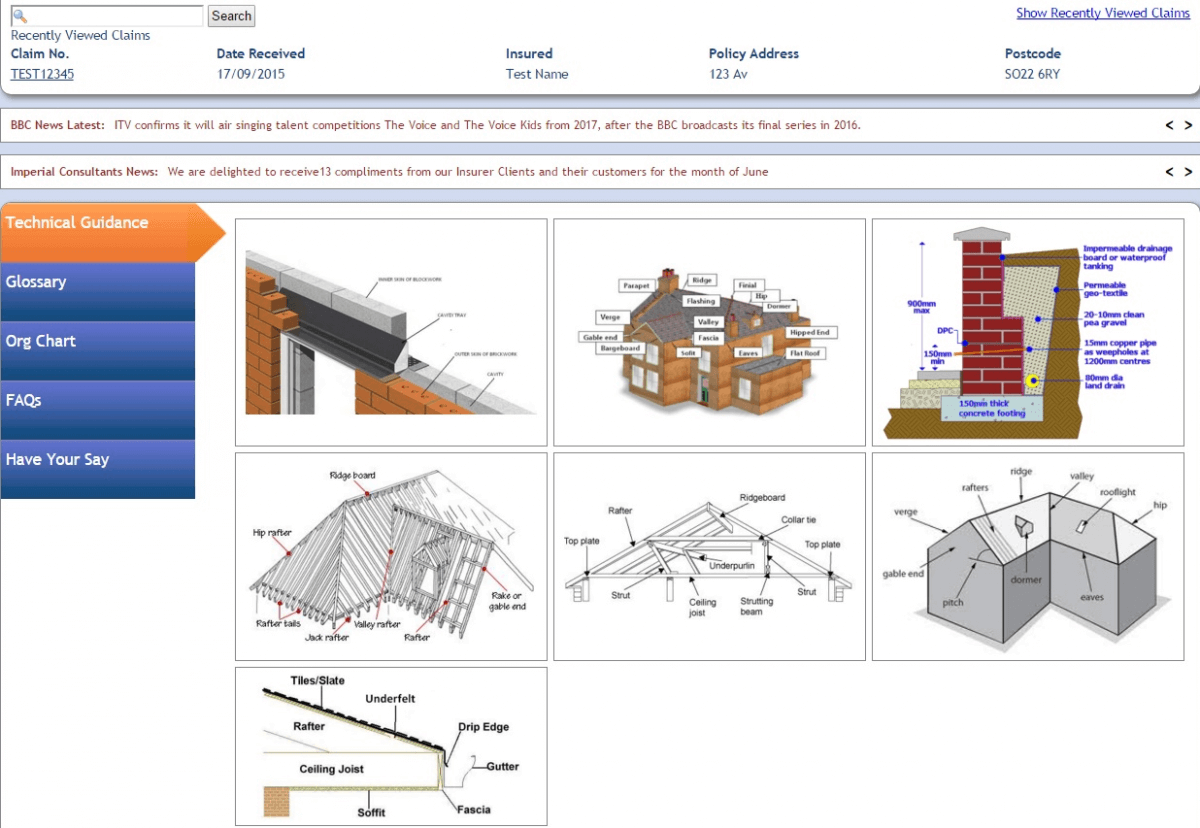 Imperial Consultants software screenshot