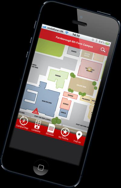 YourMapp farnborough 6th form college app