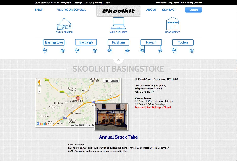Skoolkit website design