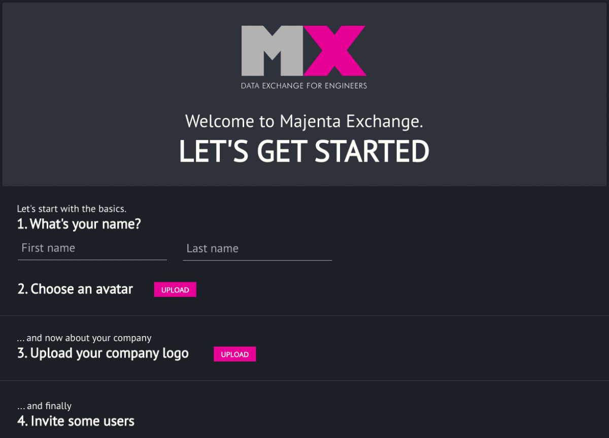 Majenta MX User interface design